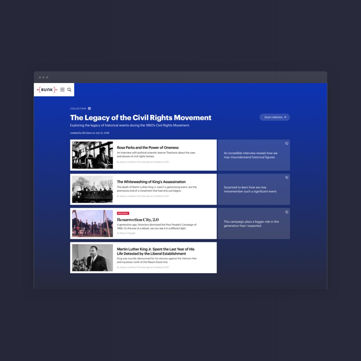 Bunk History Web