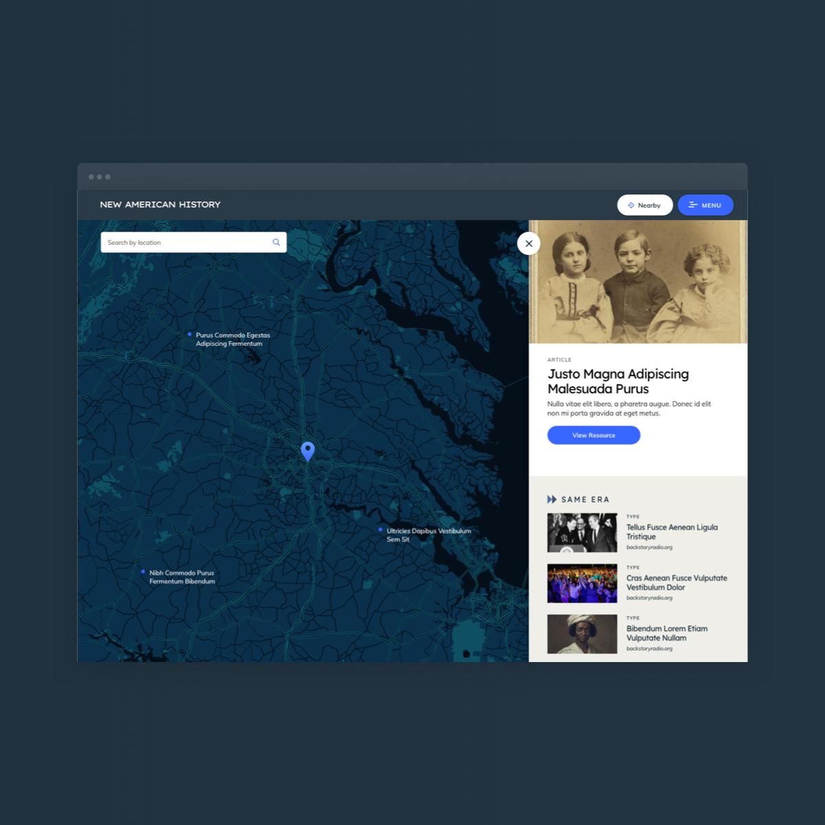 New American History Website